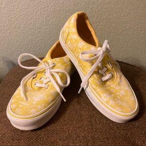Yellow floral Vans